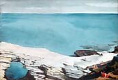 Natural Bridge, Bermuda, Winslow Homer (American, Boston, Massachusetts 1836–1910 Prouts Neck, Maine), Watercolor and graphite on white wove paper, American