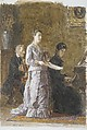 The Pathetic Song, Thomas Eakins (American, Philadelphia, Pennsylvania 1844–1916 Philadelphia, Pennsylvania), Watercolor on off-white wove paper, American