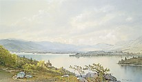 Lake Squam and the Sandwich Mountains, William Trost Richards (American, Philadelphia, Pennsylvania 1833–1905 Newport, Rhode Island), Watercolor, gouache, and graphite on light gray wove paper, American