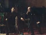 The Funding Bill, Eastman Johnson (American, Lovell, Maine 1824–1906 New York), Oil on canvas, American