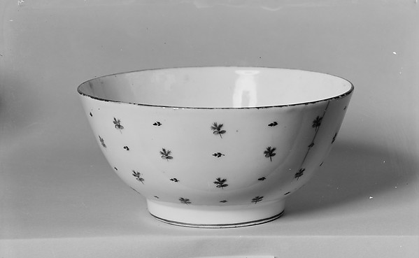 Slop Bowl, Porcelain, French, possibly