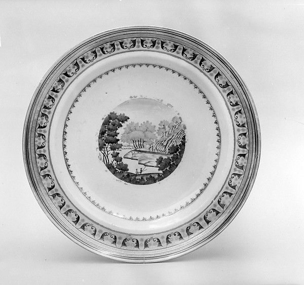 Soup Plate, Porcelain, Chinese