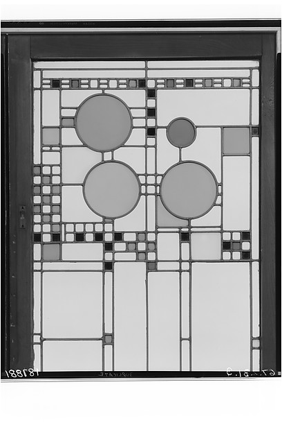 Window, Frank Lloyd Wright (American, Richland Center, Wisconsin 1867–1959 Phoenix, Arizona), Glass, zinc, American