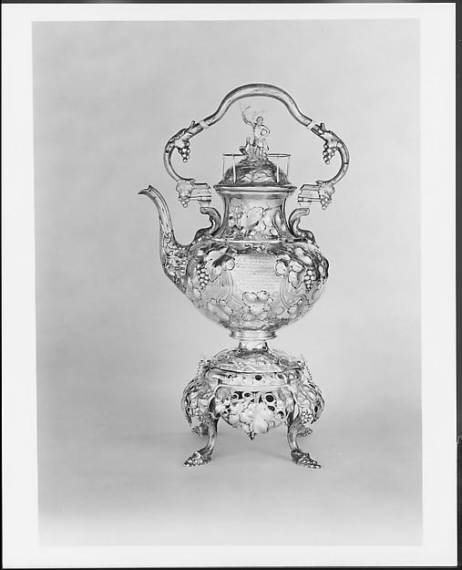 Teakettle, John C. Moore (ca. 1802–1874), Silver, American