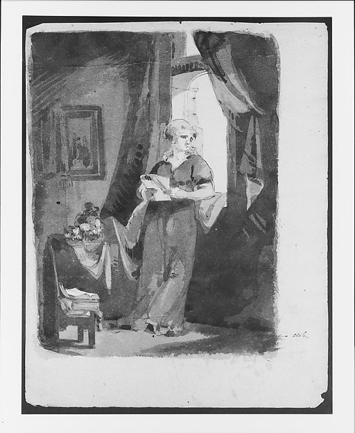 Sketchbook of Figure Studies, Thomas Sully (American, Horncastle, Lincolnshire 1783–1872 Philadelphia, Pennsylvania), Cardboard (cover) Drawings in ink, wash, and graphite on light brown laid paper with fibers of mixed composition (sheets), American