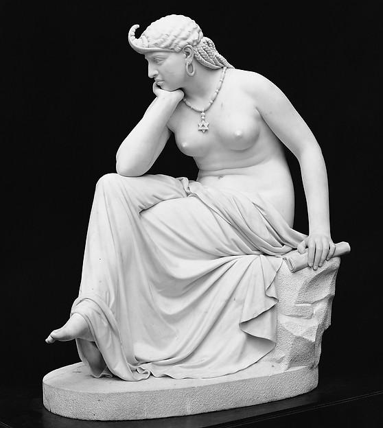 The Libyan Sibyl, William Wetmore Story (American, Boston, Massachusetts 1819–1895 Vallombrosa), Marble, American
