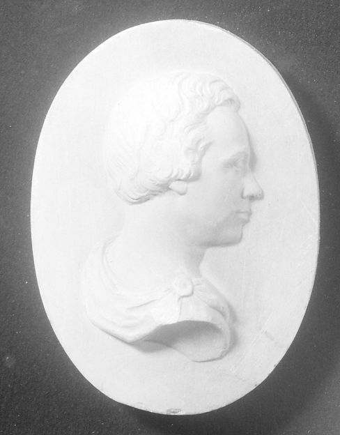 Cameo of a Gentleman, Erastus Dow Palmer (American, Pompey, New York 1817–1904 Albany, New York), Plaster, American