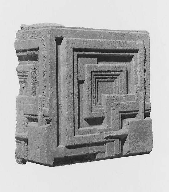 Concrete Block from the Charles Ennis House, Frank Lloyd Wright (American, Richland Center, Wisconsin 1867–1959 Phoenix, Arizona), Concrete and reinforced steel, American