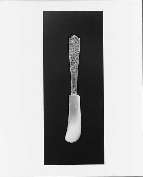 Butter Knife, Designed by George Washington Maher (1864–1926), Silver, American