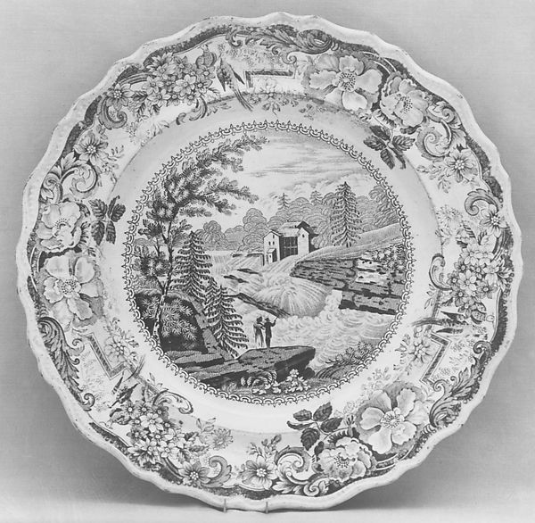 Plate, James and Ralph Clews (British, Cobridge, Stoke-on-Trent, active ca. 1818–36), Earthenware, transfer-printed, British (American market)