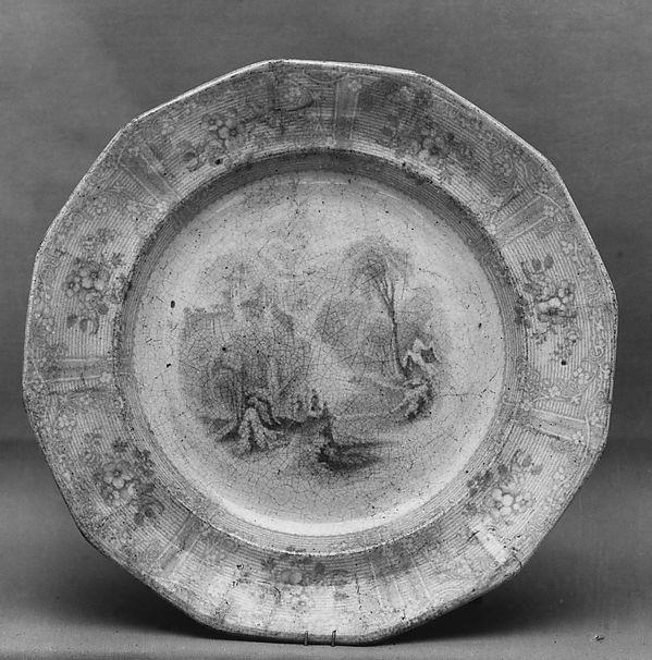 Dish, Joseph Heath (active ca. 1845–53), Earthenware, transfer-printed, British (American market)