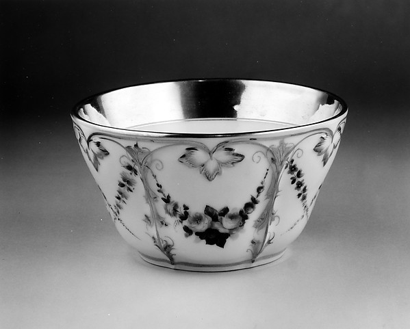 Slop Bowl, Attributed to Charles Cartlidge and Company (1848–1856), Porcelain, American
