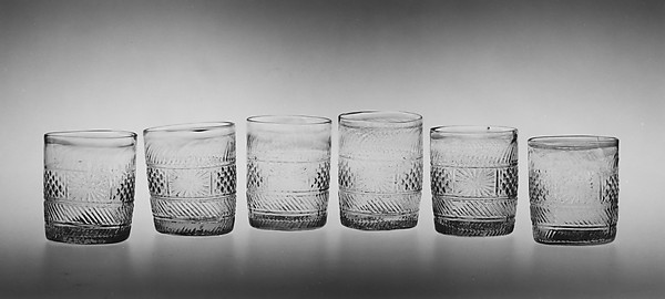 Tumbler, Blown molded glass, American