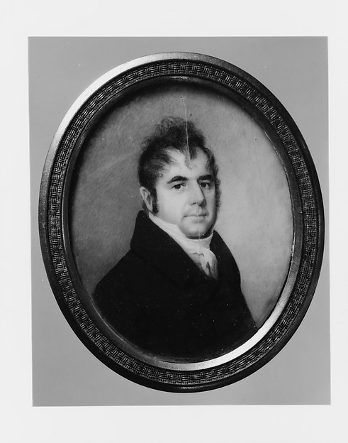 Anthony Bleecker, Attributed to Joseph Wood (1778–1830), Watercolor on ivory, American