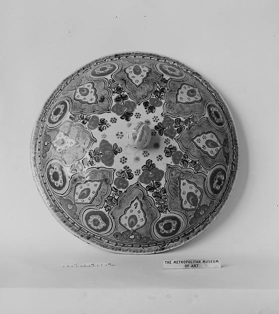 Jar Cover, Tin-glazed earthenware, Mexican