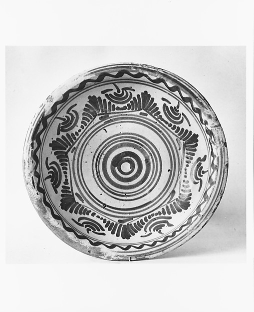 Bowl, Tin-glazed earthenware, Mexican