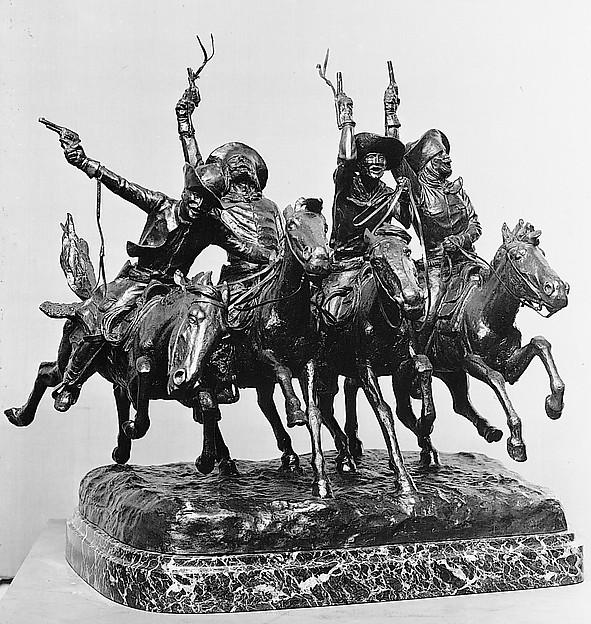 Coming Through the Rye, Frederic Remington (American, Canton, New York 1861–1909 Ridgefield, Connecticut), Bronze, American