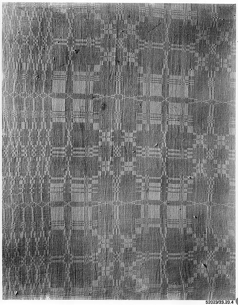 Tablecover, Probably Jane Simonton Chapman (born 1794), Linen, woven, American
