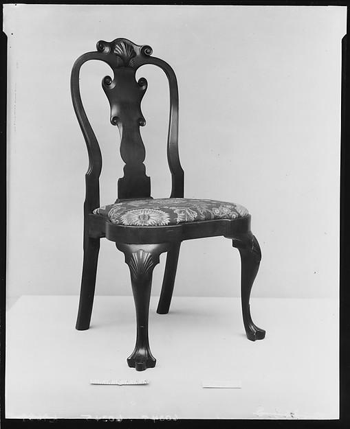 Side Chair, Mahogany, yellow pine, American