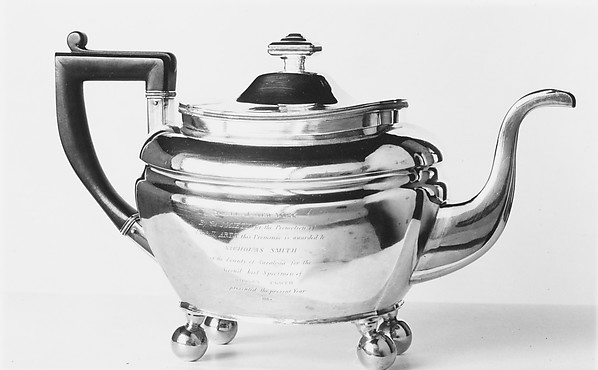 Teapot, Isaac Hutton (American, New York 1766–1855 Albany, New York), Silver, American
