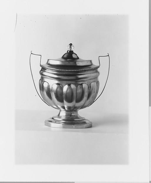 Sugar Bowl, John McMullin (1765–1843), Silver, American