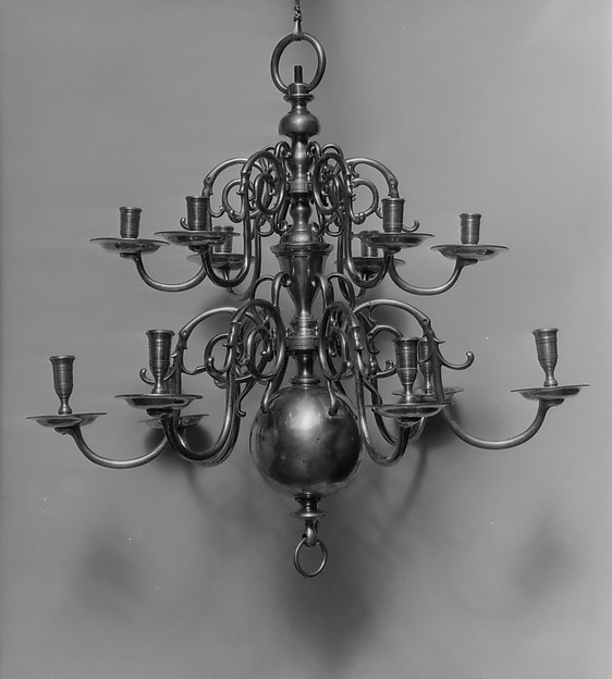 Chandelier, Brass