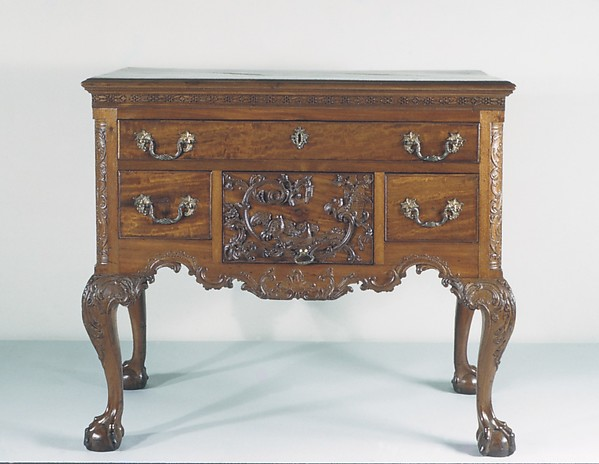 Dressing Table, Mahogany, mahogany veneer, tulip poplar, yellow pine, white cedar, American