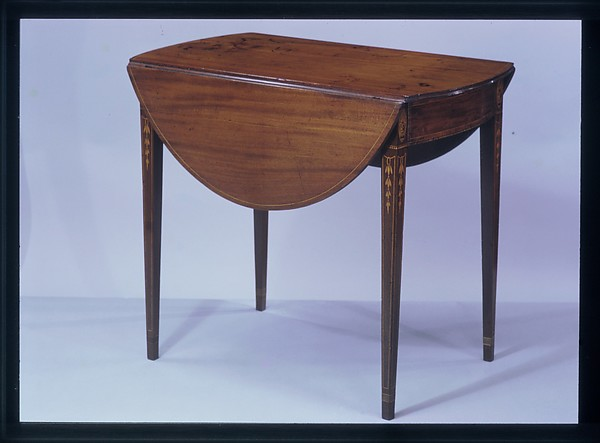 Drop-leaf Pembroke Table, Mahogany, pine, oak, American