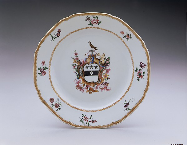 Plate, Porcelain, Chinese, for American market
