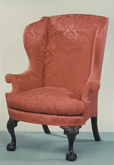 Easy Chair, Mahogany, walnut, tulip poplar, yellow pine, American