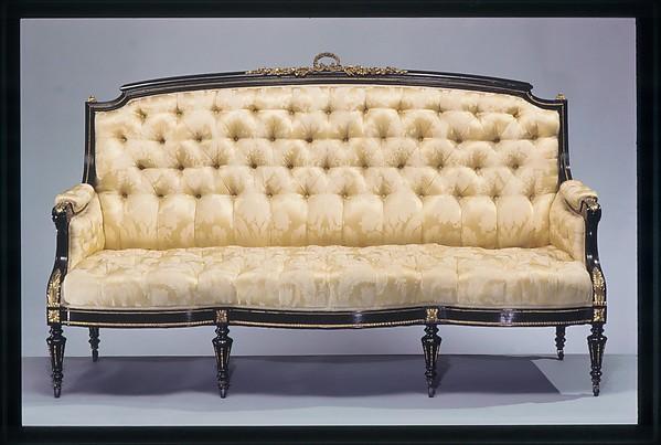 Sofa, Léon Marcotte (1824–1887), Maple, gilt bronze, American