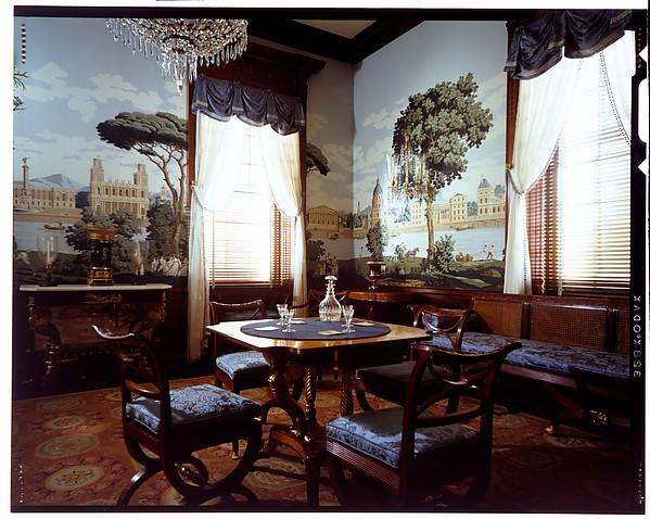 Parlor from the William C. Williams House, Theophilus Nash (died 1854), Mahogany and marble, American