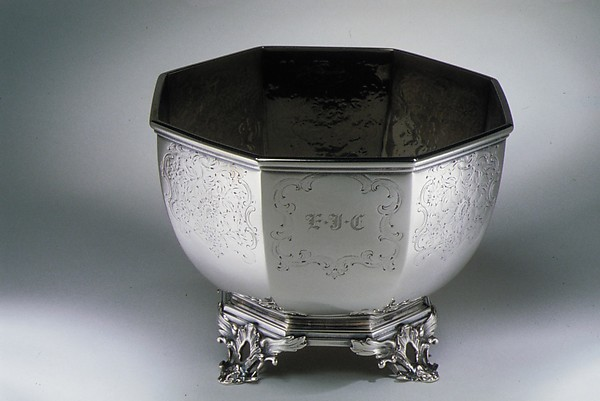 Waste Bowl, William Forbes (baptized 1799, active New York, 1826–63), Silver, American