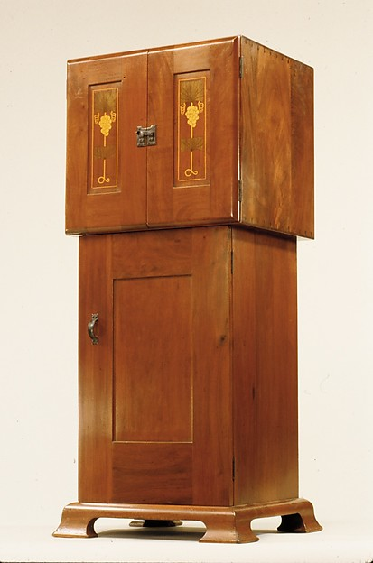 Music Cabinet, Designed by Harvey Ellis (American, Rochester, New York 1852–1904 Syracuse, New York), Mahogany, American