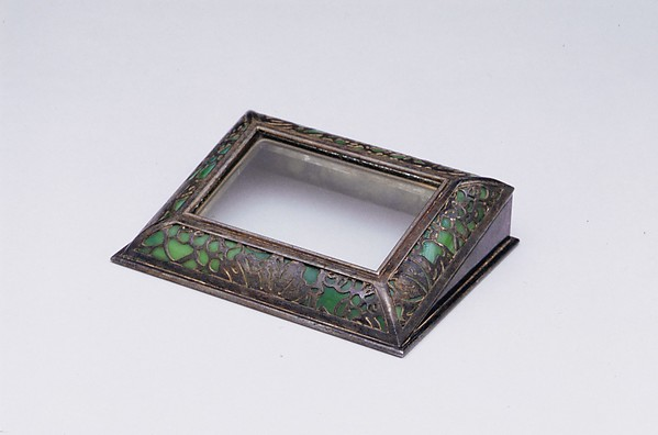 Calendar Frame, Designed by Louis Comfort Tiffany (American, New York 1848–1933 New York), Bronze, glass, American