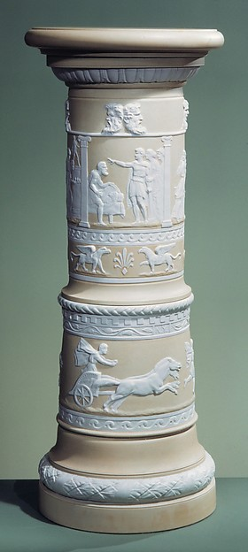 Centennial Pedestal, Designed by Karl L. H. Müller (ca. 1820–1887), Porcelain, American