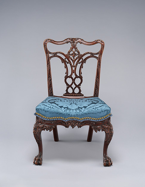 Side Chair, Attributed to Benjamin Randolph (American, 1737–1792), Mahogany, northern white cedar, American