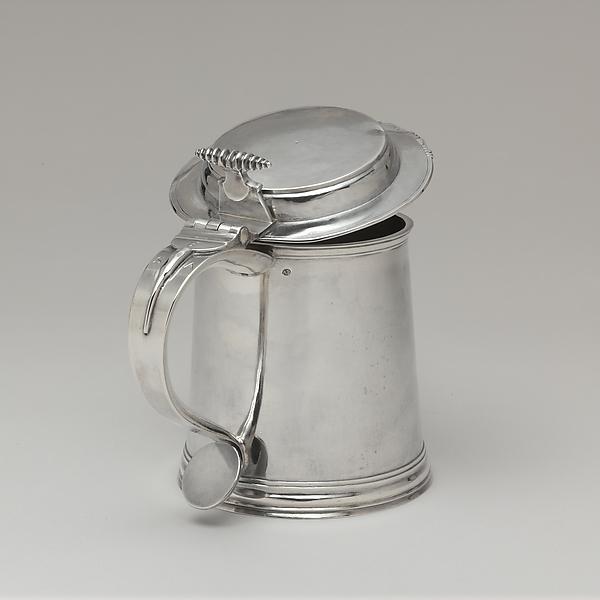 Tankard, Adrian Bancker (1703–1772), Silver, American