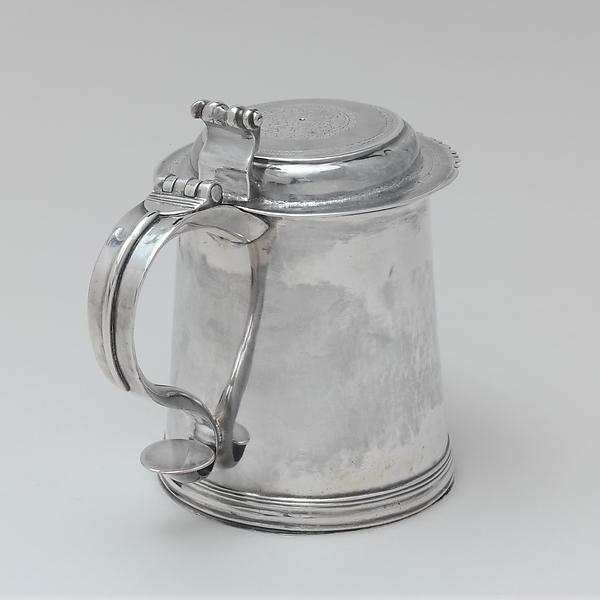 Tankard, John Hastier (1691–1771), Silver, American