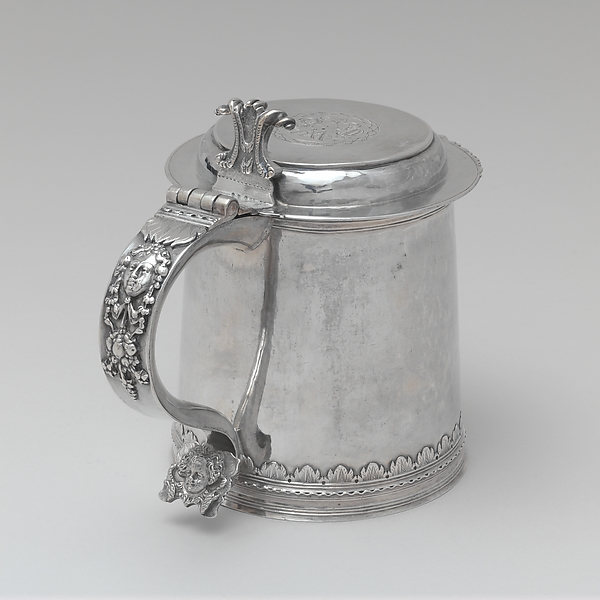 Tankard, Cornelius Kierstede (1674–ca. 1757), Silver, American