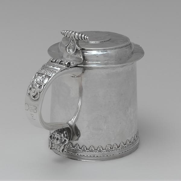 Tankard, Jacob Boelen (ca. 1657–1729), Silver, American