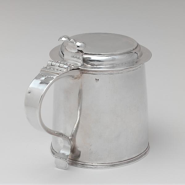 Tankard, John Coney (1655/56–1722), Silver, American