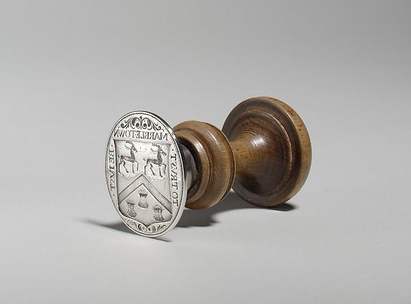 Seal, Jacob Boelen (ca. 1657–1729), Silver, wood, American