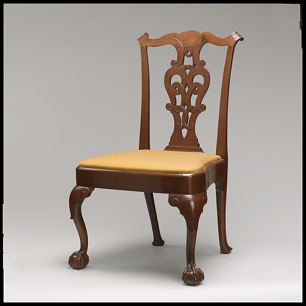 Side Chair, Walnut, white oak, white pine, American