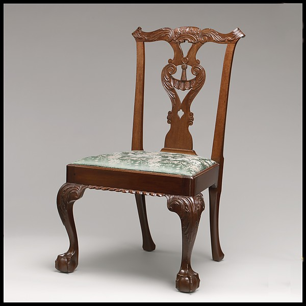 Side Chair, Mahogany, sweet gum, American