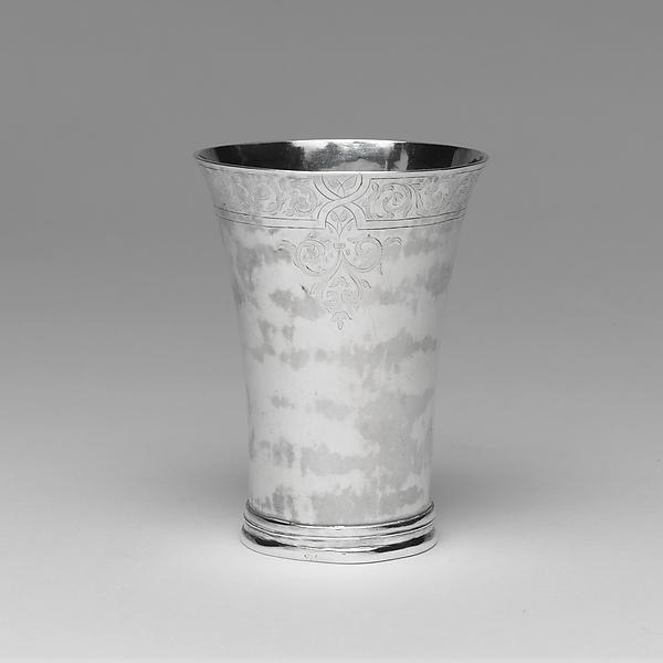 Beaker, John Burt Lyng (active ca. 1761–85), Silver, American