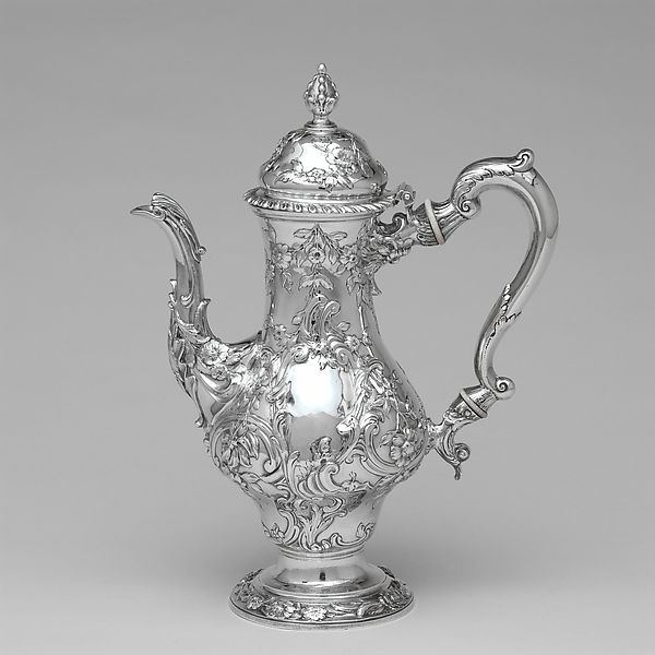 Coffeepot, Benjamin Brewood II (active from 1755), Silver, British
