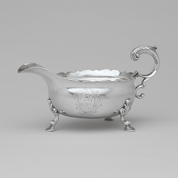 Sauceboat, Joseph Richardson Sr. (1711–1784), Silver, American