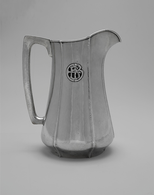 Pitcher, The Kalo Shop (American, 1900–1970), Silver, American