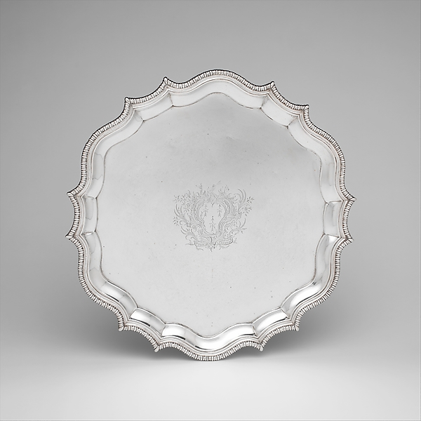 Salver, Daniel Christian Fueter (1720–1785), Silver, American